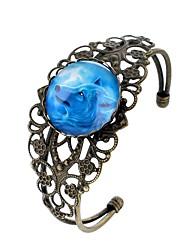 Недорогие -Жен. Браслет разомкнутое кольцо , европейский Рок Стекло Сплав Круглый Бижутерия Для вечеринок Новый год