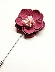 cheap -Men's Women's Brooches Imitation Pearl Korean Alloy Flower Jewelry For Wedding Daily