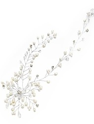 cheap -Crystal Imitation Pearl Rhinestone Headbands with Crystal Imitation Pearl Flowers 1pc Headpiece