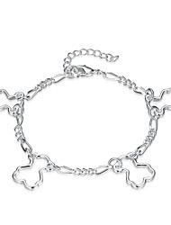 cheap -Women's Hypoallergenic Heart Crystal Cubic Zirconia Zircon Silver Plated Pendant Necklace Chain Necklace  -  Hypoallergenic Fashion Sweet