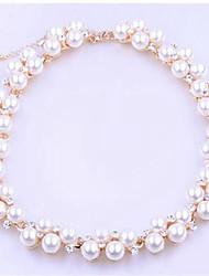 abordables -Mujer Pulseras del filamento Perla artificial Cristal Clásico Moda Perla Artificial Diamante Sintético Legierung Bola Joyas Diario