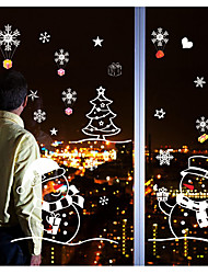 cheap -Art Deco New Year's Christmas Window Sticker, PVC/Vinyl Material Window Decoration Living Room Shop /Cafe