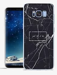 Недорогие -Кейс для Назначение Apple S8 Plus S8 С узором Задняя крышка Слова / выражения Мрамор Мягкий TPU для S8 Plus S8 S7 edge S7 S6 edge plus S6