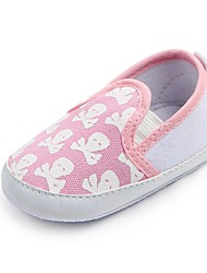 cheap -Baby Shoes Fabric Spring Fall Comfort First Walkers Crib Shoes Flats Gore for Casual Outdoor Light Blue Pink Black