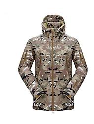 Jaqueta de Caçador Impermeável Unisexo Disparando Á Prova-de-Chuva Esqui Sólido Polícia / Militar Jaquetas Softshell Manga Comprida para