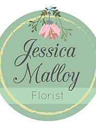 Недорогие -Цветы и растения Цветы Наклейки и теги - 10 Круглый Конверт наклейки