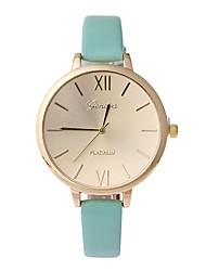 Недорогие -NAVIFORCE Жен. Кварцевый Наручные часы Китайский Повседневные часы PU Группа минималист Мода Черный Зеленый Розовый Бежевый