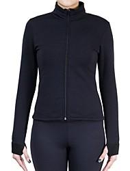 cheap -Figure Skating Fleece Jacket Women's Ice Skating Sweatshirt / Top Black / Rose Red Spandex Stretchy Performance / Practise Skating Wear