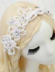 baratos -Chifon Imitação de Pérola Strass Headbands 1pç Casamento Ocasião Especial Capacete