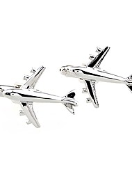 cheap -Silver Cufflinks Brass Airplane Leisure Men's Costume Jewelry For Wedding / Daily