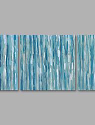 economico -Dipinta a mano Astratto Verticale,Modern Tela Hang-Dipinto ad olio Decorazioni per la casa Tre Pannelli