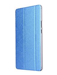 economico -per cover case con supporto origami traslucido custodia per il corpo tinta unita in pelle dura per huawei m3 8.0 cpn-w09 / al00