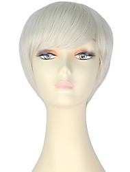 cheap -Synthetic Wig Straight Blonde Women's Capless Carnival Wig Halloween Wig Party Wig Lolita Wig Natural Wigs Cosplay Wig Short Synthetic