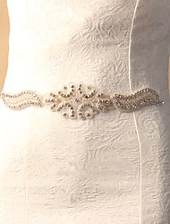 cheap -Silk Like Satin Wedding Special Occasion Sash With Rhinestone Crystal Women's Sashes