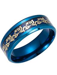 Недорогие -Муж. Кольцо - Нержавеющая сталь Мода 6 / 7 / 8 Черный / Темно-синий Назначение Повседневные