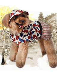 cheap -Dog Hoodie Dog Clothes Stylish Leisure Chrismas Floral/Botanical Print Coffee Costume For Pets