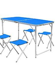 abordables -Sille plegable para camping Mesa para camping Doblez Aleación de Aluminio para Camping