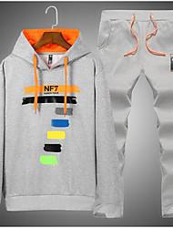 economico -Activewear Set Da uomo Sport Casual Tinta unita Rotonda Anelastico Poliestere Manica lunga Inverno