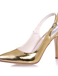economico -Per donna Scarpe Vernice Primavera / Estate Decolleté scarpe da sposa A stiletto Appuntite Fibbia Oro / Argento / Blu / Matrimonio