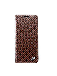 preiswerte -Hülle Für Samsung Galaxy S8 S7 edge Geldbeutel Kreditkartenfächer mit Halterung Rückseitenabdeckung Volltonfarbe Hart Echtes Leder für S8