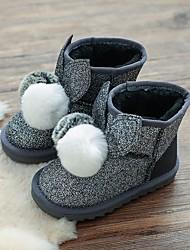 Dívčí Obuv Semiš Zima Sněhule Boty Kotníčkové Bambule pro Ležérní Černá Šedá Růžová