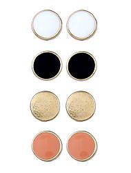 cheap -Women's 4pcs Stud Earrings Hoop Earrings , Metallic Fashion Korean Alloy Circle Geometric Jewelry Gift Street Costume Jewelry