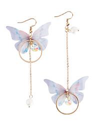 cheap -Women's Drop Earrings Lovely Fashion Mismatch Imitation Pearl Fabric Alloy Butterfly Jewelry Party