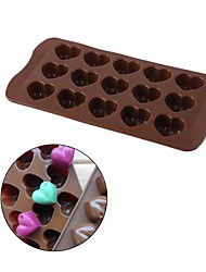 cheap -Cake Molds Heart For Candy Cookie Cake For Cookie For Cake Silica Gel DIY Valentine's Day New Year's Wedding Baking Tool