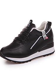 cheap -Women's Shoes PU Spring / Summer Comfort Sandals Chunky Heel Peep Toe for Dress White / Black