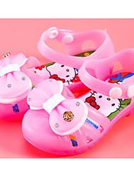 Pige Sko PVC-læder Forår Sommer Komfort Sandaler for Afslappet Gul Rosa Lys pink