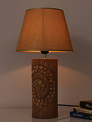 cheap -Ambient Light Artistic Table Lamp Eye Protection On/Off Switch AC Powered 220V Brown