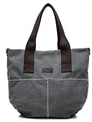 preiswerte -Damen Taschen Leinwand Umhängetasche Reißverschluss für Veranstaltung / Fest Normal Winter Herbst Blau Weiß Grau Kaffee Khaki
