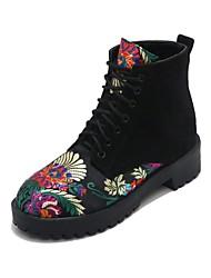 preiswerte -Damen Schuhe maßgeschneiderte Werkstoffe Winter Herbst Komfort Neuheit Modische Stiefel Stiefel Niedriger Heel Runde Zehe Geschlossene