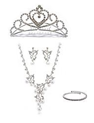 preiswerte -Damen Strass Diamantimitate Schmuck-Set Körperschmuck 1 Halskette Ohrringe - Modisch Europäisch Schmetterling Ketten Braut-Schmuck-Sets