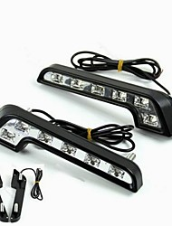 cheap -1 Set for Benz Usage LED DRL 2*6W 480LM 6500K Benz AMG CLA 43 45  63 AMG GT AMG S Models etc LED Daytime Running Light