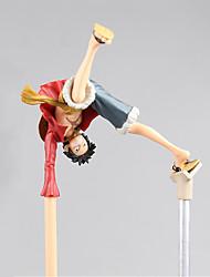 abordables -figuras de acción anime inspiradas en el mono de una pieza d. luffy pvc cm juguetes modelo muñeco de juguete