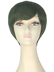 cheap -Synthetic Wig Straight Green Women's Capless Carnival Wig Halloween Wig Party Wig Lolita Wig Natural Wigs Cosplay Wig Short Synthetic Hair