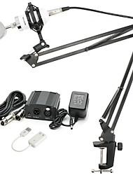 baratos -KEBTYVOR BM8000 Com Fio Microfone Conjuntos Microfone Condensador Profissional Para Computadores e Notebooks