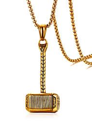 Недорогие -Муж. Кулоны , Геометрической формы Нержавеющая сталь На каждый день Мода Cool Бижутерия Назначение Повседневные Официальные