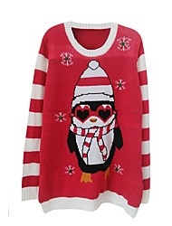 cheap -Santa Suits Knit/Cutsew Female Christmas Festival / Holiday Halloween Costumes Red Pattern