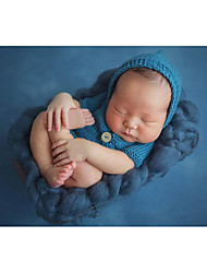 Baby Unisex Tøjsæt Fødselsdag Ensfarvet,Bomuld Alle årstider Kort Ærme Sødt Gul Rosa Lyseblå Kakifarvet Lysegrå