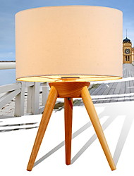 cheap -Traditional/Classic Anti-Glare Table Lamp For Living Room Wood/Bamboo 220V White