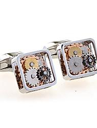 cheap -Geometric White Black Cufflinks Copper European Wedding Daily Costume Jewelry