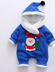 abordables -bébé Une-Pièce Unisexe Noël Sortie Bande dessinée Coton Hiver Automne Manches longues Mignon Actif Bleu Rouge Rose Claire