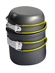 economico -Pentola da campeggio Attrezzi cucina all'aperto Indossabile Alluminio duro per Campeggio
