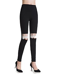 cheap -Women's Low Rise Micro-elastic Skinny Pants,Casual Solid Polyester All Seasons