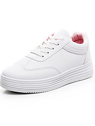 cheap -Women's Shoes Knit Spring / Fall Comfort Athletic Shoes Walking Shoes White / Black / White and Pink
