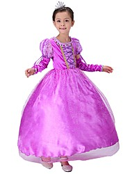 cheap -Princess Fairytale Sofia One Piece Dress Kid Christmas Masquerade Birthday Festival / Holiday Halloween Costumes Purple Color Block