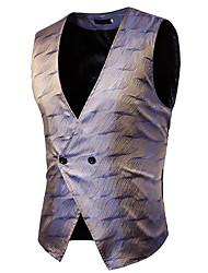 cheap -Men's Vest - Color Block Camouflage Floral Print, Tassel Jacquard