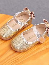 economico -Da ragazza Scarpe Finta pelle Autunno Scarpe da cerimonia per bambine Ballerine Fiocco per Casual Oro Argento Rosa